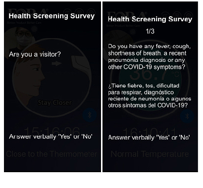 "Verbally Answer ""Yes"" or ""No"" in response to each survey question."