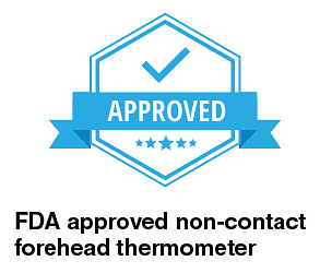 FDA approved non-contact forehead thermometer