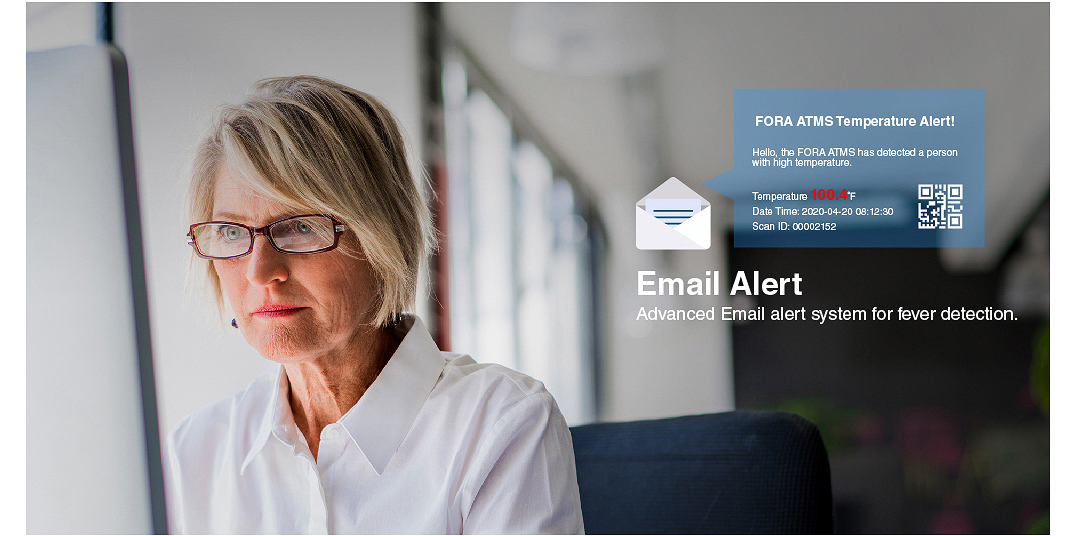 Email Alert It will send an email once it detects the userr has a fever.